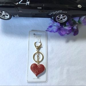 Crystal Collection Accessory Heart Shaped Keychain